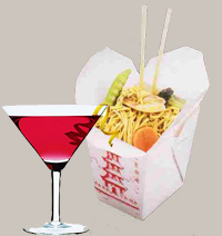 Chinese takeout & cosmos