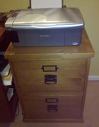 My new (to me) filing cabinet.