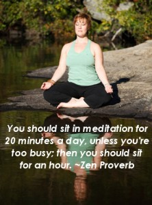Wellness Scribe, if busy, meditate an hour