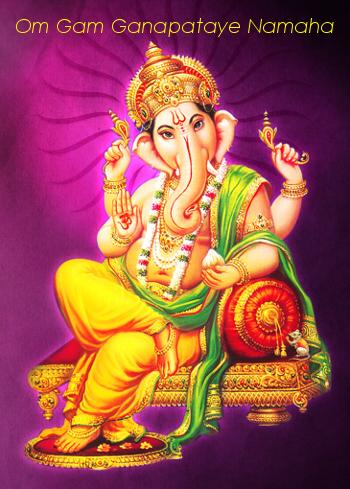 Lord Ganesha and Om Gam Ganapataye Namaha