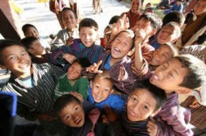Happy Bhutan Children