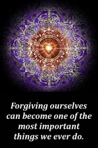 Forgiving ourselves can become one of the most things we ever do.